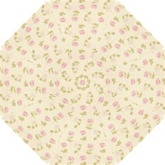 Floral Paper Illustration Girly Pink Pattern Hook Handle Umbrellas (small)