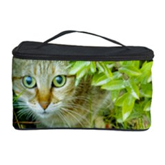 Hidden Domestic Cat With Alert Expression Cosmetic Storage Case