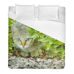 Hidden Domestic Cat With Alert Expression Duvet Cover (full/ Double Size)