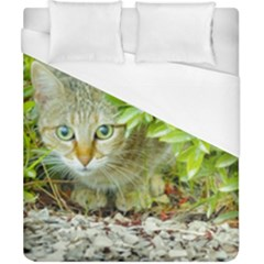 Hidden Domestic Cat With Alert Expression Duvet Cover (california King Size)