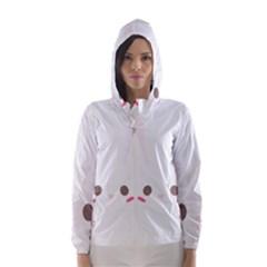 Rabbit Cute Animal White Hooded Wind Breaker (women)