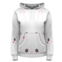 Rabbit Cute Animal White Women s Pullover Hoodie