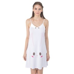 Rabbit Cute Animal White Camis Nightgown