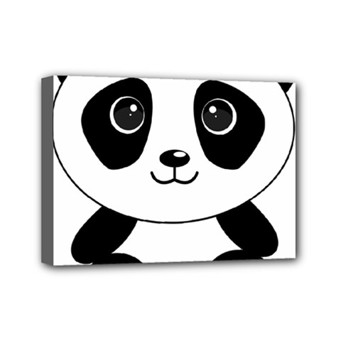 Bear Panda Bear Panda Animals Mini Canvas 7  X 5