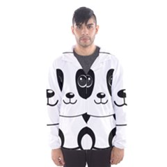 Bear Panda Bear Panda Animals Hooded Wind Breaker (men)
