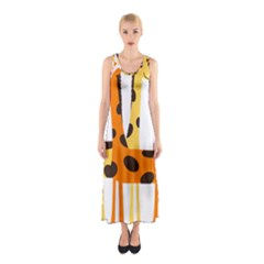 Giraffe Africa Safari Wildlife Sleeveless Maxi Dress