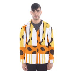 Giraffe Africa Safari Wildlife Hooded Wind Breaker (men)