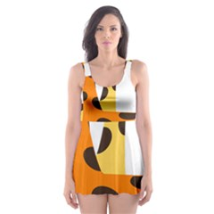 Giraffe Africa Safari Wildlife Skater Dress Swimsuit