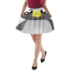 Cute Penguin Animal A Line Pocket Skirt