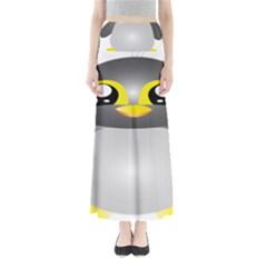 Cute Penguin Animal Full Length Maxi Skirt