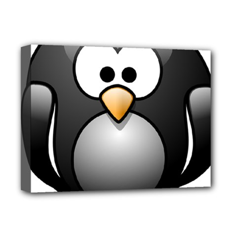 Penguin Birds Aquatic Flightless Deluxe Canvas 16  X 12
