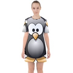 Penguin Birds Aquatic Flightless Mini Dress