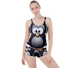 Penguin Birds Aquatic Flightless Boyleg Tankini Set