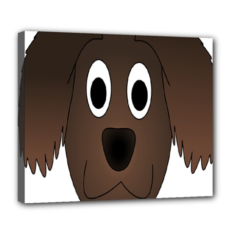 Dog Pup Animal Canine Brown Pet Deluxe Canvas 24  X 20