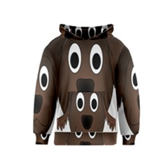 Dog Pup Animal Canine Brown Pet Kids  Pullover Hoodie
