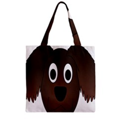 Dog Pup Animal Canine Brown Pet Zipper Grocery Tote Bag