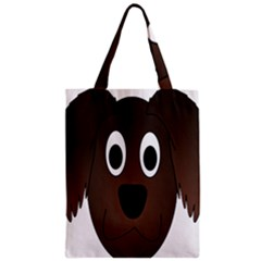 Dog Pup Animal Canine Brown Pet Zipper Classic Tote Bag
