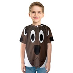 Dog Pup Animal Canine Brown Pet Kids  Sport Mesh Tee