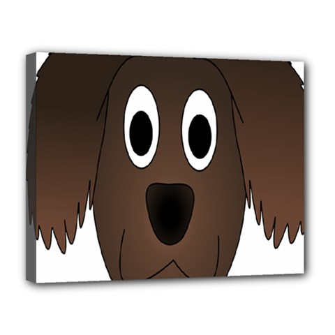 Dog Pup Animal Canine Brown Pet Canvas 14  X 11
