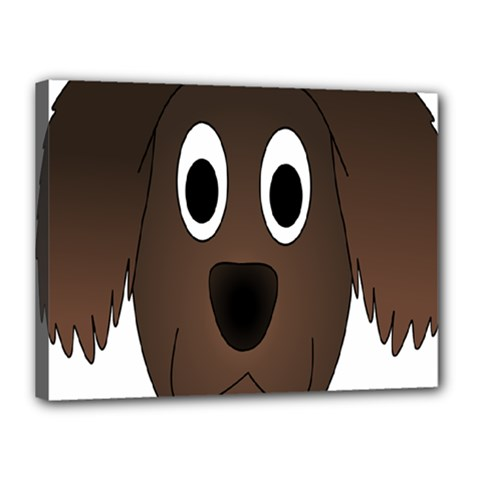 Dog Pup Animal Canine Brown Pet Canvas 16  X 12