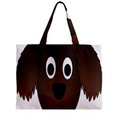 Dog Pup Animal Canine Brown Pet Zipper Mini Tote Bag