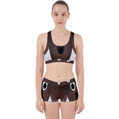Dog Pup Animal Canine Brown Pet Work It Out Sports Bra Set