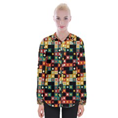 Colors On Black Womens Long Sleeve Shirt