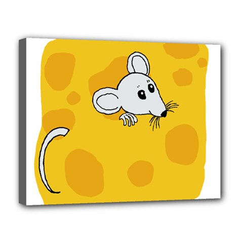 Rat Mouse Cheese Animal Mammal Canvas 14  X 11