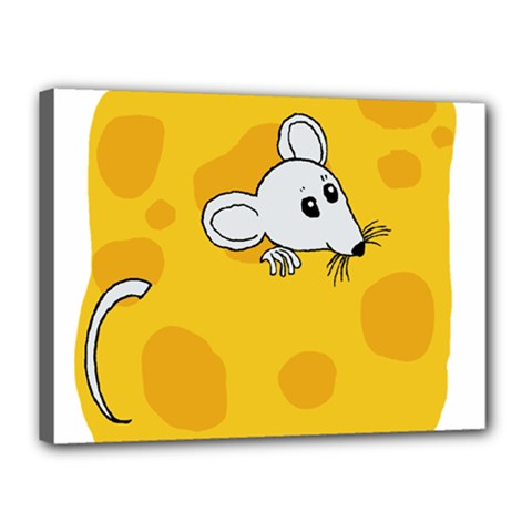 Rat Mouse Cheese Animal Mammal Canvas 16  X 12