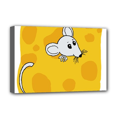 Rat Mouse Cheese Animal Mammal Deluxe Canvas 18  X 12