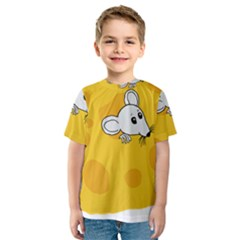 Rat Mouse Cheese Animal Mammal Kids  Sport Mesh Tee