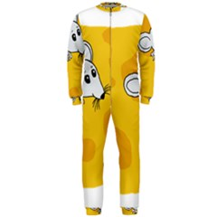 Rat Mouse Cheese Animal Mammal Onepiece Jumpsuit (men)