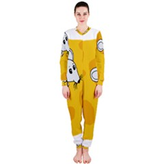 Rat Mouse Cheese Animal Mammal Onepiece Jumpsuit (ladies)