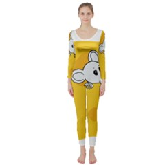 Rat Mouse Cheese Animal Mammal Long Sleeve Catsuit