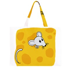 Rat Mouse Cheese Animal Mammal Zipper Large Tote Bag