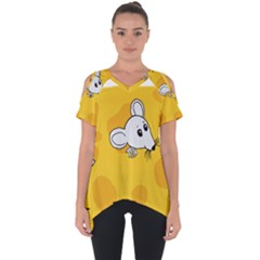 Rat Mouse Cheese Animal Mammal Cut Out Side Drop Tee