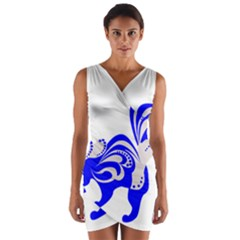 Skunk Animal Still From Wrap Front Bodycon Dress