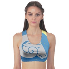 Ram Zodiac Sign Zodiac Moon Star Sports Bra