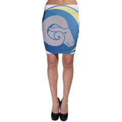 Ram Zodiac Sign Zodiac Moon Star Bodycon Skirt
