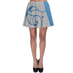 Ram Zodiac Sign Zodiac Moon Star Skater Skirt