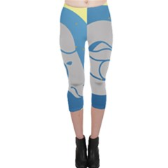 Ram Zodiac Sign Zodiac Moon Star Capri Leggings