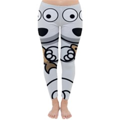 Bear Polar Bear Arctic Fish Mammal Classic Winter Leggings