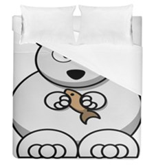 Bear Polar Bear Arctic Fish Mammal Duvet Cover (queen Size)
