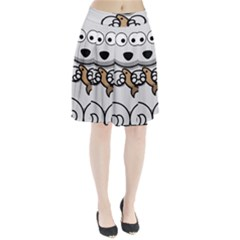 Bear Polar Bear Arctic Fish Mammal Pleated Skirt