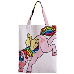 Unicorn Arociris Raimbow Magic Zipper Classic Tote Bag