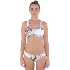 Unicorn Arociris Raimbow Magic Cross Back Hipster Bikini Set