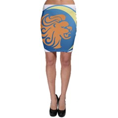 Lion Zodiac Sign Zodiac Moon Star Bodycon Skirt