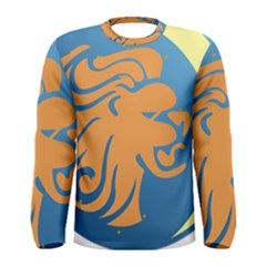 Lion Zodiac Sign Zodiac Moon Star Men s Long Sleeve Tee