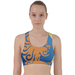 Lion Zodiac Sign Zodiac Moon Star Back Weave Sports Bra