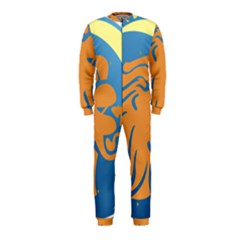 Lion Zodiac Sign Zodiac Moon Star Onepiece Jumpsuit (kids)